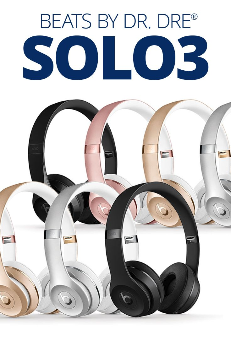 Beats By Dr Dre Solo3 Wireless Gloss White On Ear Bluetooth Headphones With Apple W1 Chip At Crutchfield Headphones Wireless Beats Cute Headphones