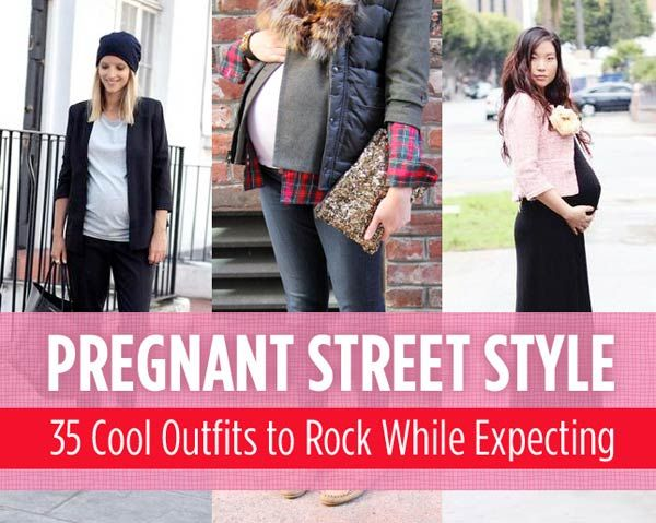 pregnant street style 35 cool outfits to rock while. Black Bedroom Furniture Sets. Home Design Ideas