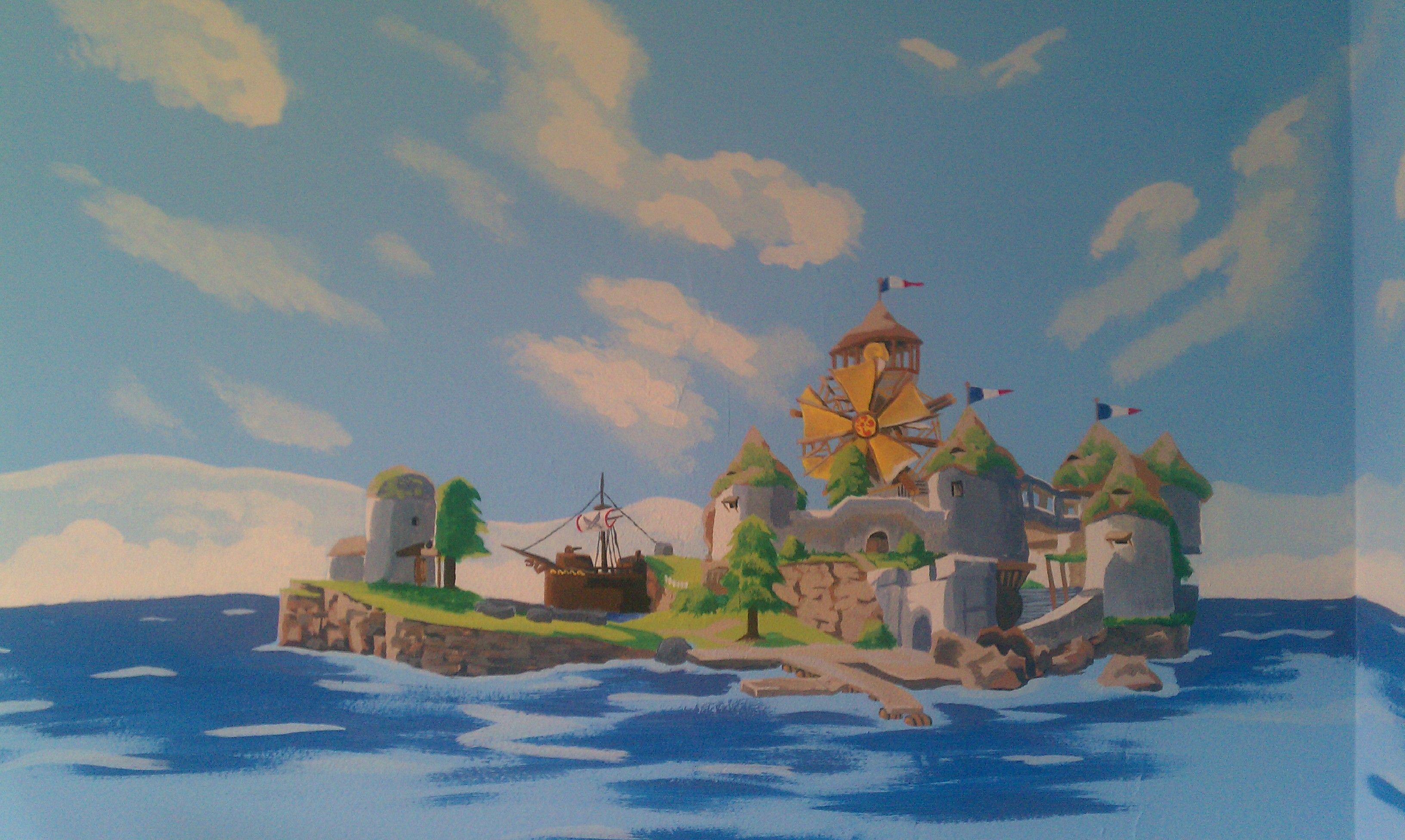 Windfall Island nursery mural | Hyrule | Legend of zelda