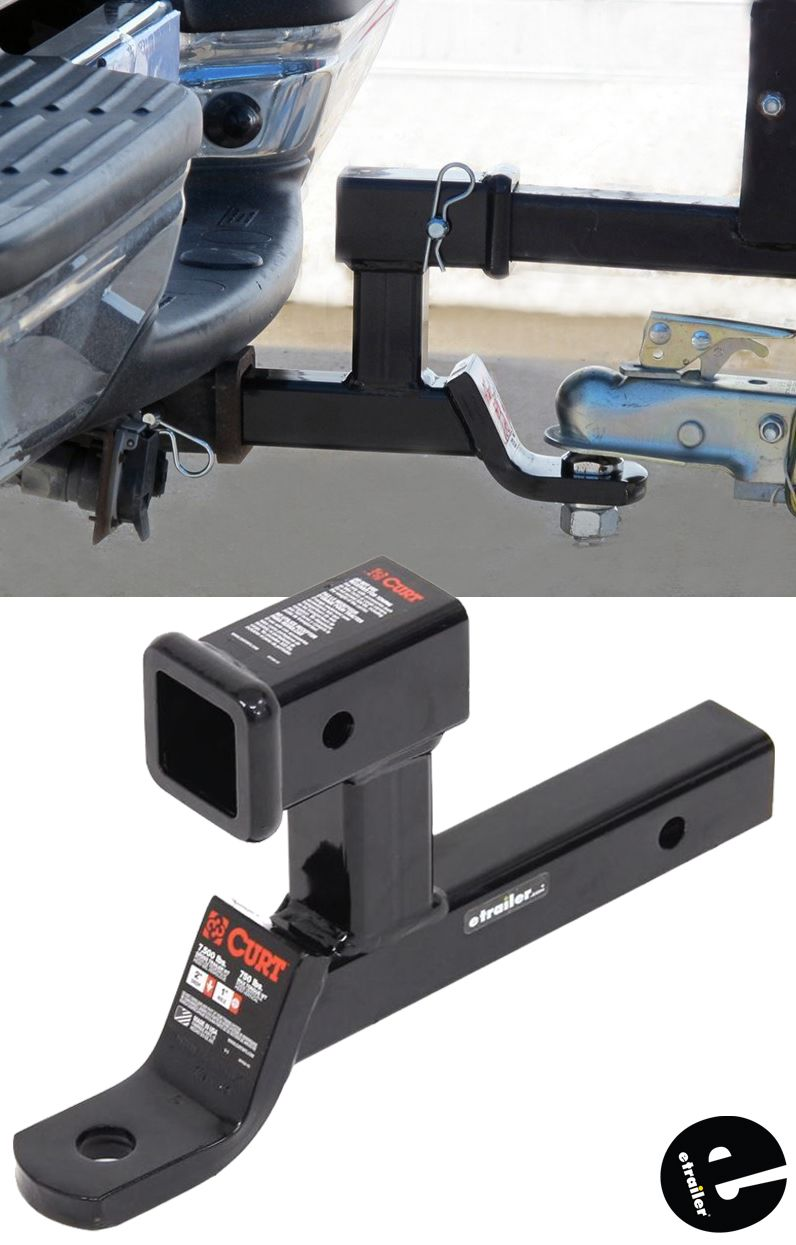 Curt Multipurpose Ball Mount With 2 Receiver For Bike Racks And Cargo Carriers 7 500 Lbs Curt Tra Camping Trailer Bike Rack Trailer Hitch Accessories