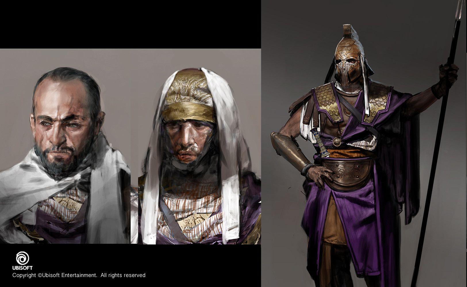 Artstation Assassin S Creed Origins Apollodorus Cleopatra S Guard Concept Jeff Simpson Concept Art Characters Assassins Creed Character Concept