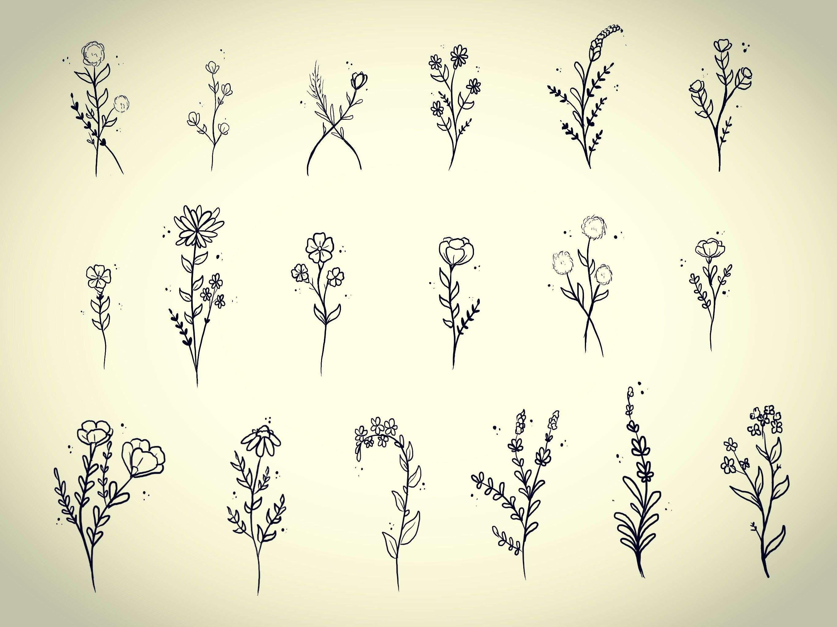 Inspiration For Cute Simple Mini Flower Tattoo Ideas Elegant Small Custom Flowers By Casey Hart At Rose Re Tiny Flower Tattoos Red Tattoos Simple Flower Tattoo
