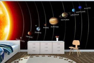 Planets In Solar System Mural Solar System Room Solar System