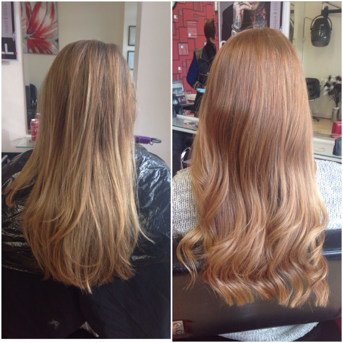 Before And After Created By Using Copper Blonde Golden Blonde And