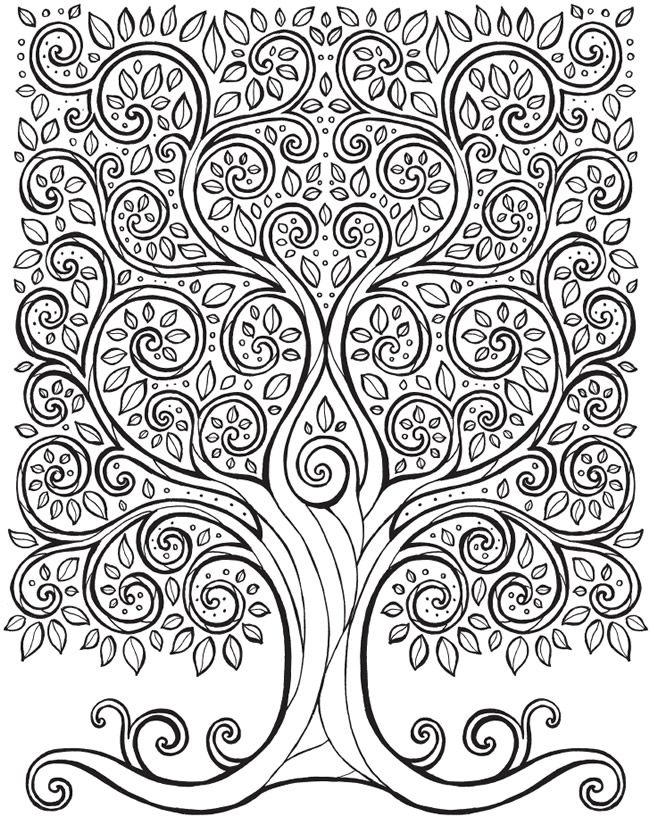 Instant Download Coloring Page Tree Of Life Peace By Chubbymermaid