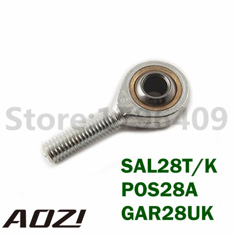 Male Metric Threaded Rod End Joint Bearing 28mm Male Thread