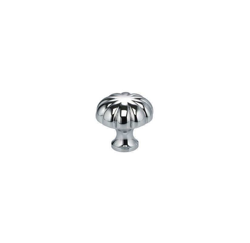Omnia 9405/38 Classic & Modern 1-1/2 Inch Diameter Mushroom Cabinet Knob Polished Chrome Cabinet Hardware Knobs Mushroom