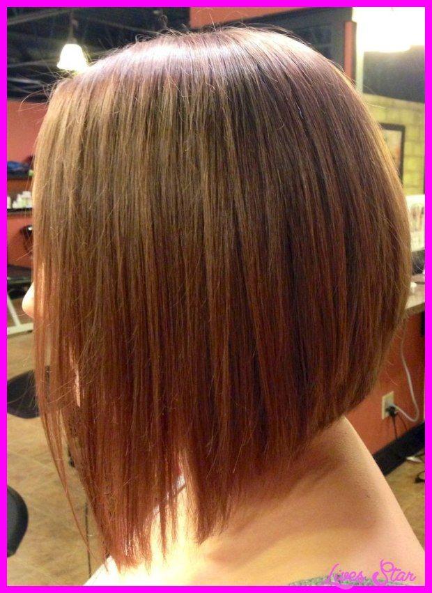 Nice Long Angled Bob Haircut Back View Lives Star Pinterest