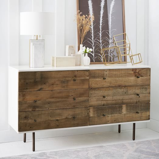 Reclaimed Wood + Lacquer -Drawer Dresser  west elm  Decor