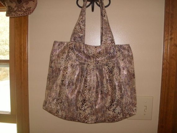 Faux Snake Skin Print Hand Bag by rebeccaanndesigns on Etsy, $45.00