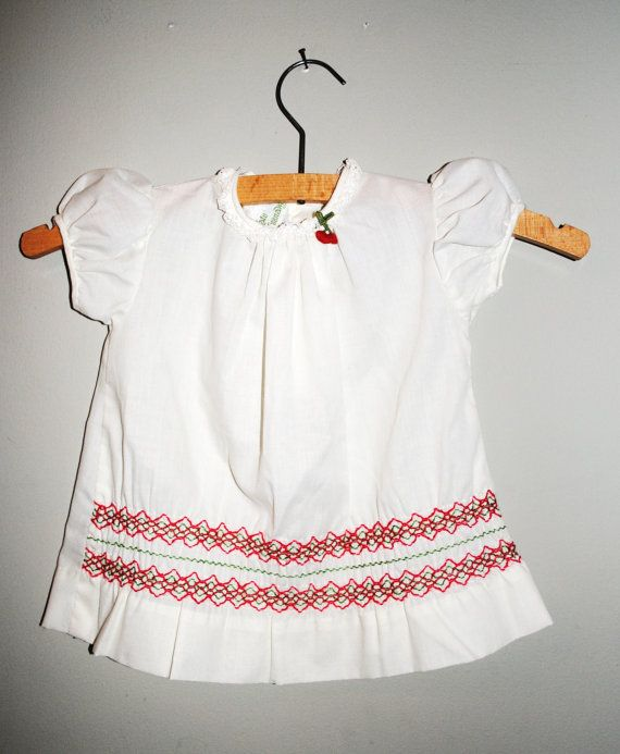 Vintagebaby girls dress.  Vintage cotton dress by Lilacwinevintage, $9.50