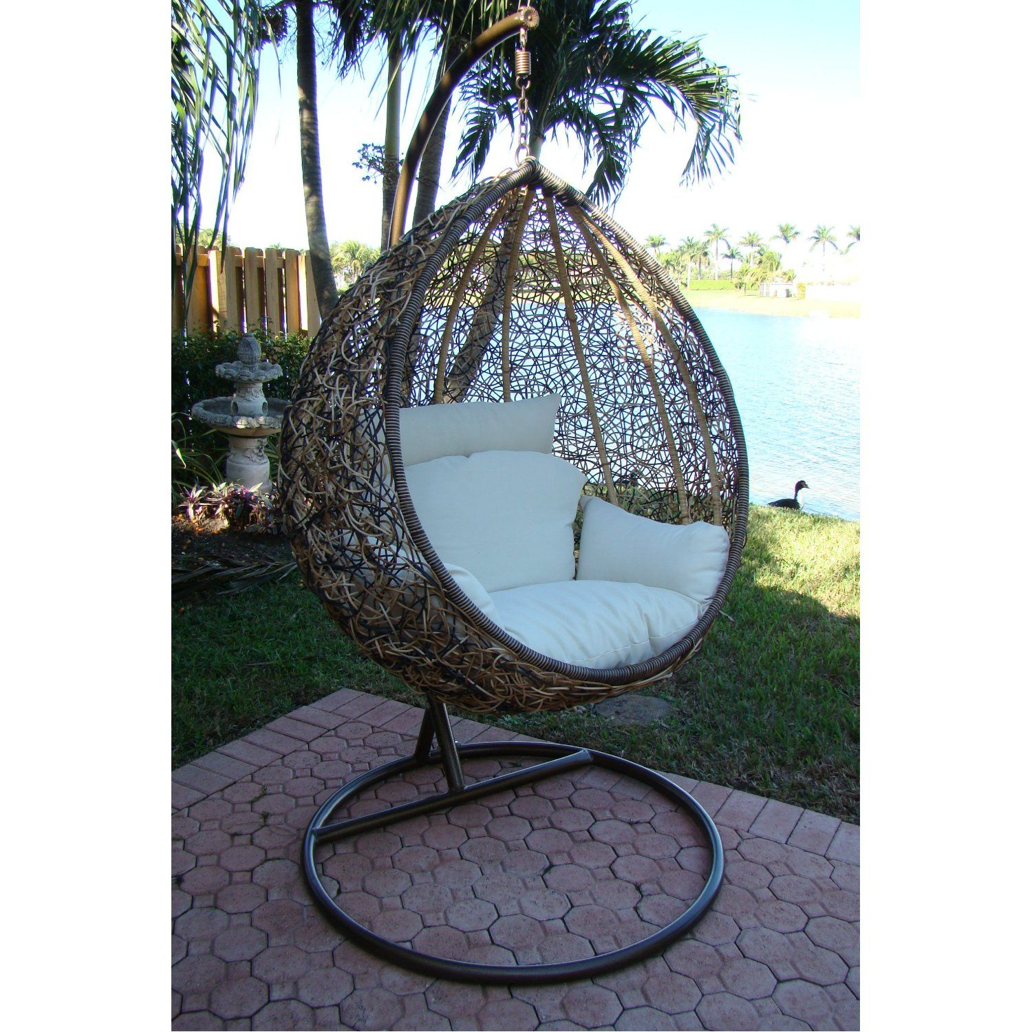 What A Comfy Place To Read My Favorite Books! Trully   Outdoor Wicker Swing  Chair   The Great Hammocks Dream Home