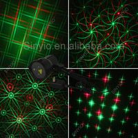 IP 65 Red&Green dynamic outdoor garden landscape Christmas eight  flower laser holiday lighting RF remote