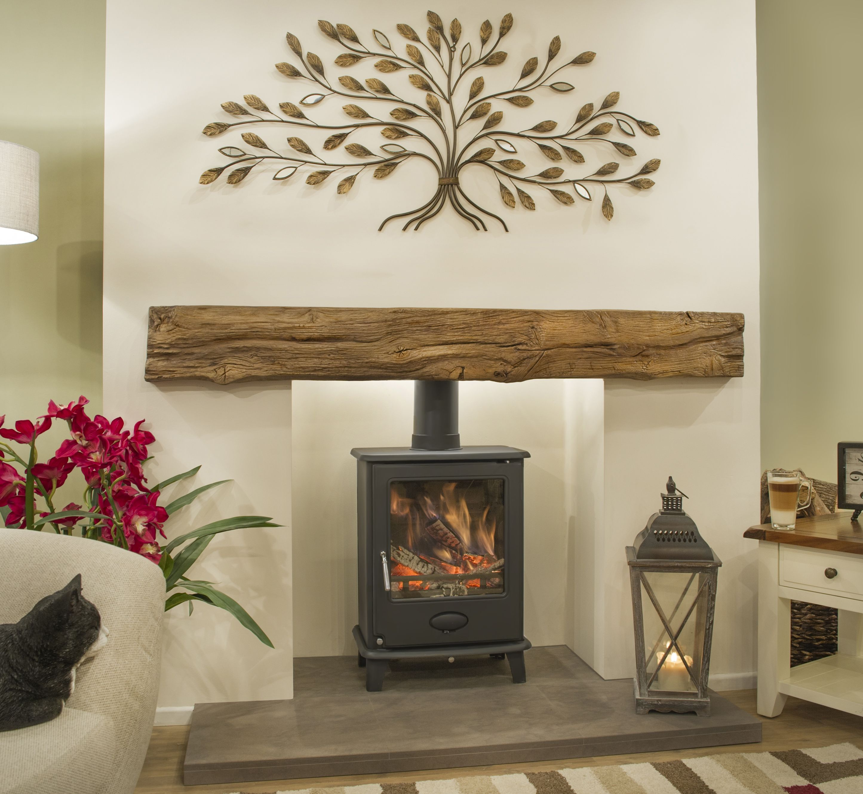 Image Result For Wood Burning Stove Victorian Living Roo