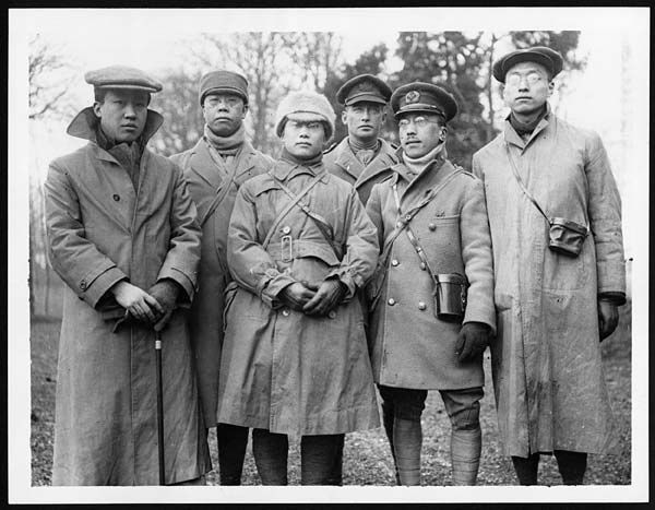(2) D.1119 - Chinese students starting for the trenches on the Western Front