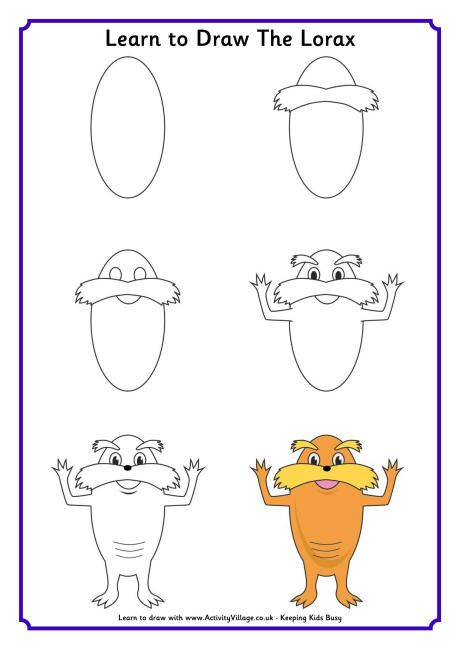 Learn To Draw The Lorax Here S A Fun Dr Seuss Activity