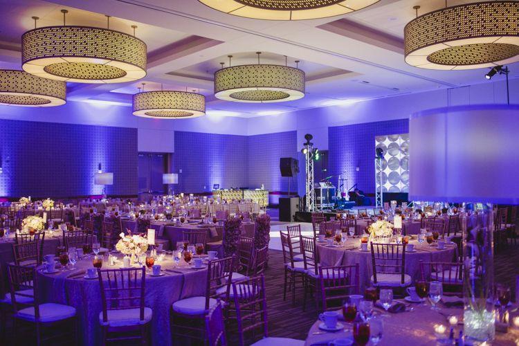 19 Westin Galleria Wedding Mad Men 60s Themed Purple