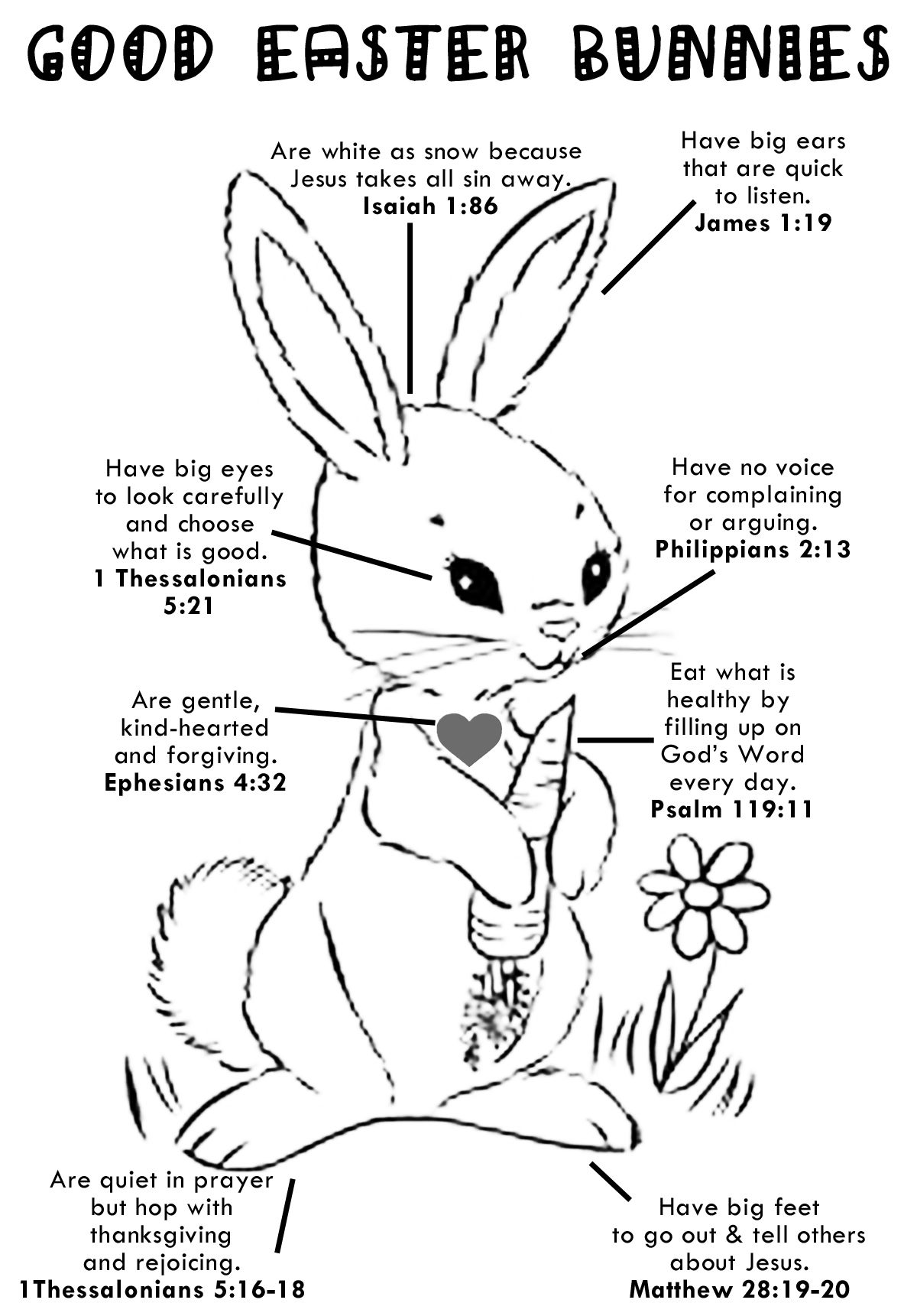Sunday School Easter Colouring In Page Enjoy
