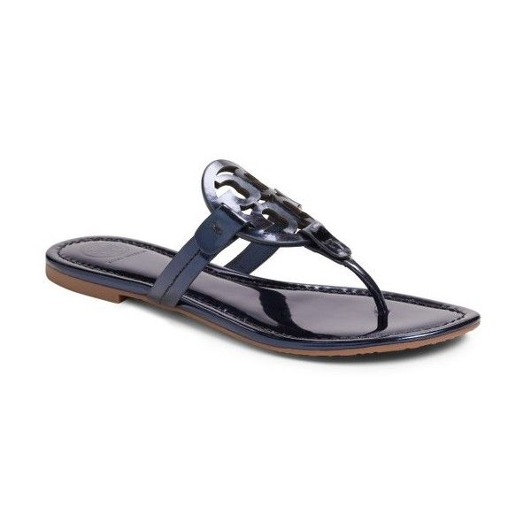 Women's Tory Burch 'Miller' Flip Flop ($195) ❤ liked on Polyvore featuring