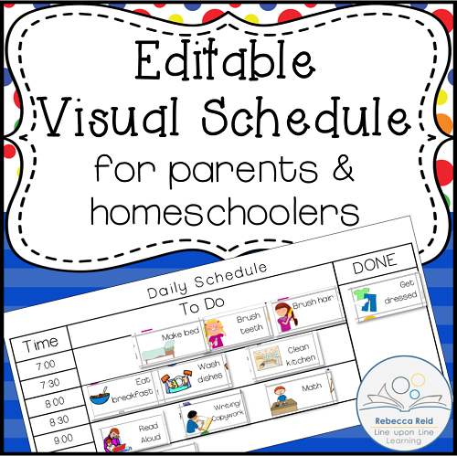 graphic relating to Printable Visual Schedule referred to as FREEBIE Editable Visible Agenda prefect for mother and father and