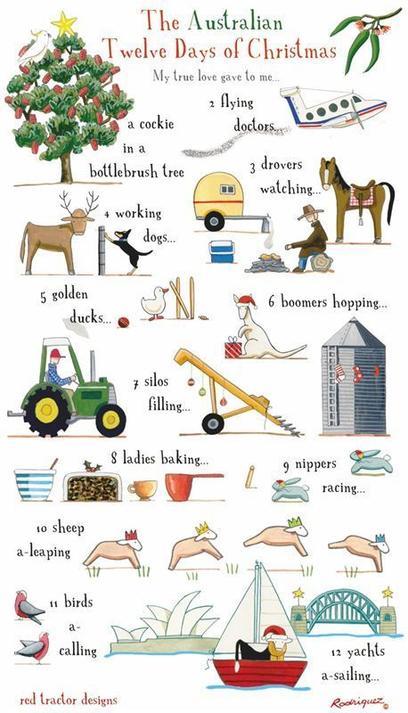 12 Days Of Christmas Craft Ideas Part - 28: Rodriquez - The Tea-towel People: The Australian 12 Days Of Christmas  $17.95 ?