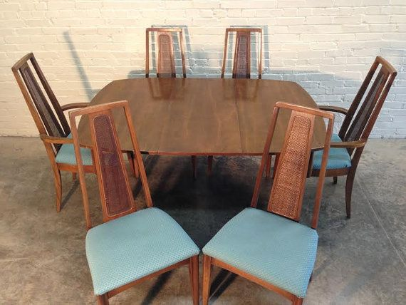 BROYHILL EMPHASIS Mid-Century Modern Dining Table W/6-Chairs ...