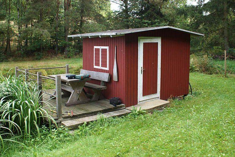 Gartenhaus 70 Aufbaustory für die rote Hütte am