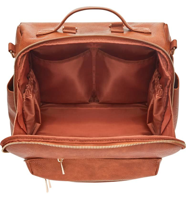 Cross Country Faux Leather Diaper Bag