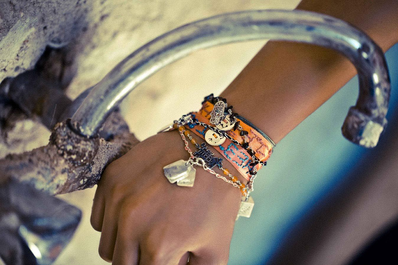 layered Friendship-bracelets by Lama Hourani