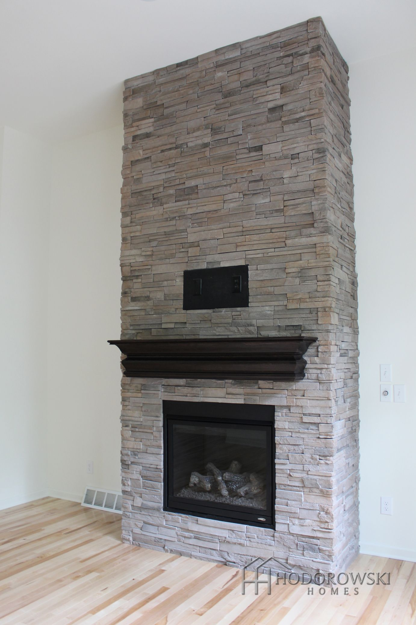 this beautiful floor to ceiling fireplace is at our community in