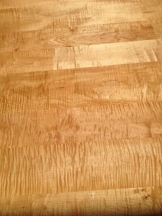 Curly Maple Wide Plank Wood Floor Sustainably Harvested Maple