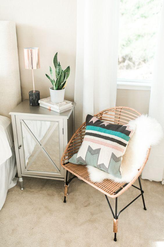 Modern Bohemian California Home Tour | Home decor bedroom ... on Modern Bohemian Bedroom Decor  id=17505