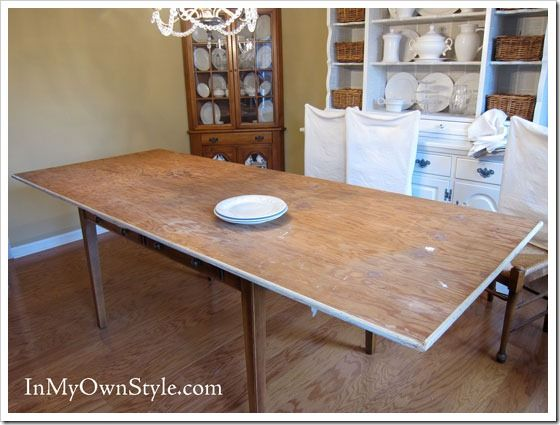 how to enlarge a dining room table for extra seating | plywood