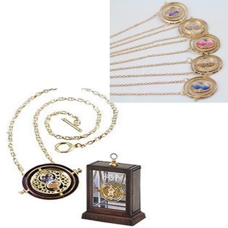 Hot Sale Pendant Necklace Harry Potter Hermione Granger Rotating Time Turner Necklace Gold Hourglass Time-Turner 18k Gold Hourglass Pendants Online with $1.11/Piece on Worldfashionoutlet's Store   DHgate.com