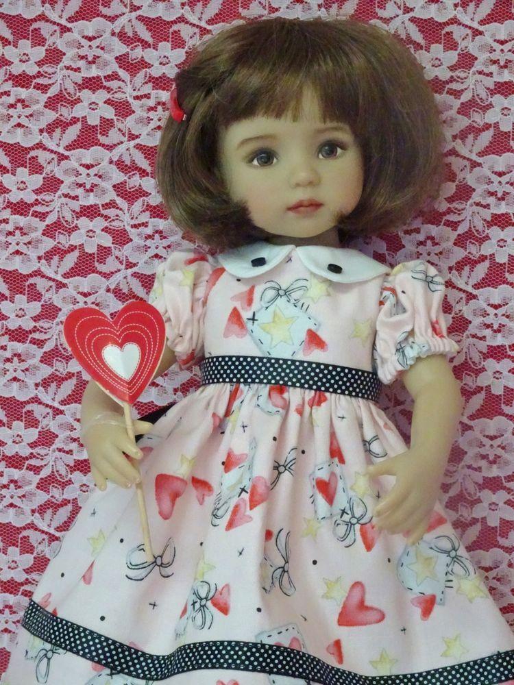 """RED /& WHITE Stripe Doll Socks For Dianna Effner 13/"""" Vinyl Little Darling Debs"""