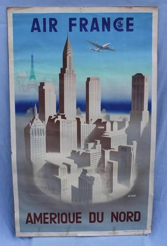 1950s poster of NYC