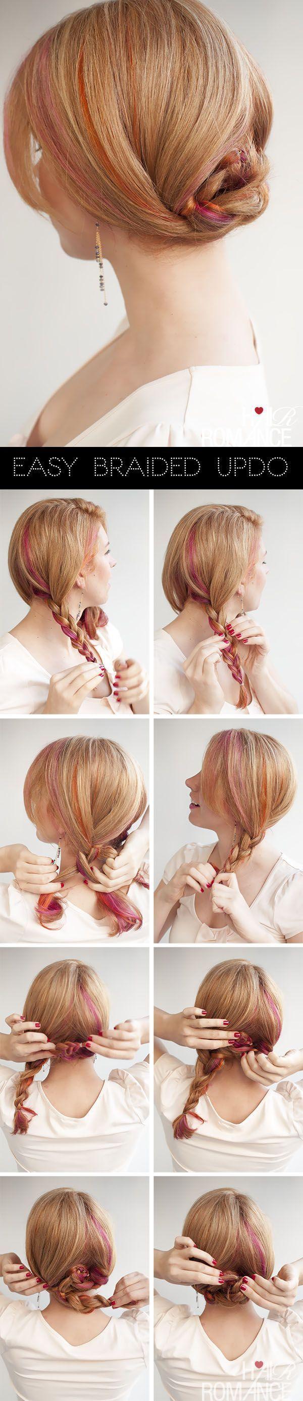 Hair romance easy braid updo hairstyle tutorial braided