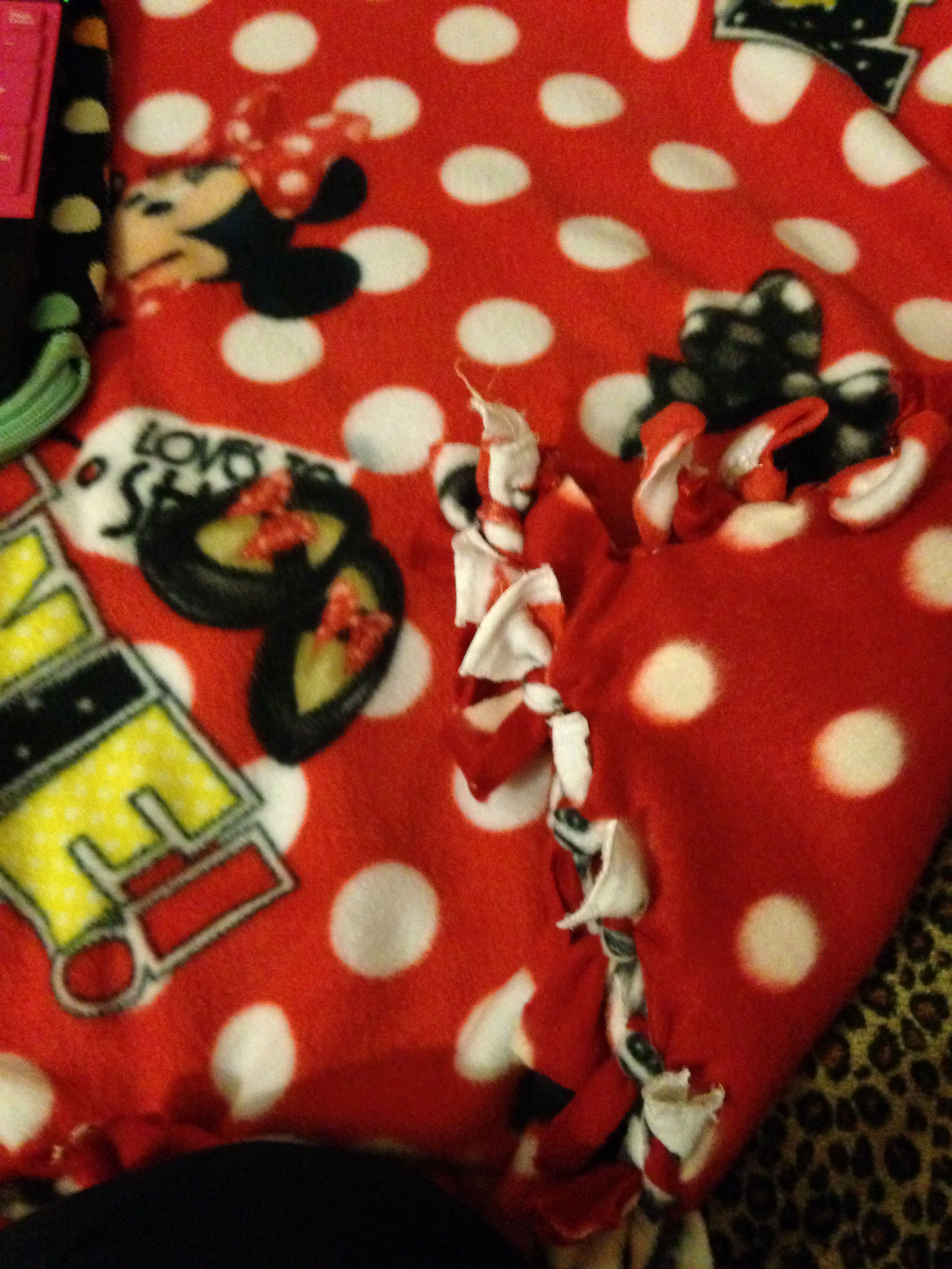 Minnie Mouse No Sew Blanket Baby Pinterest Mice Sew