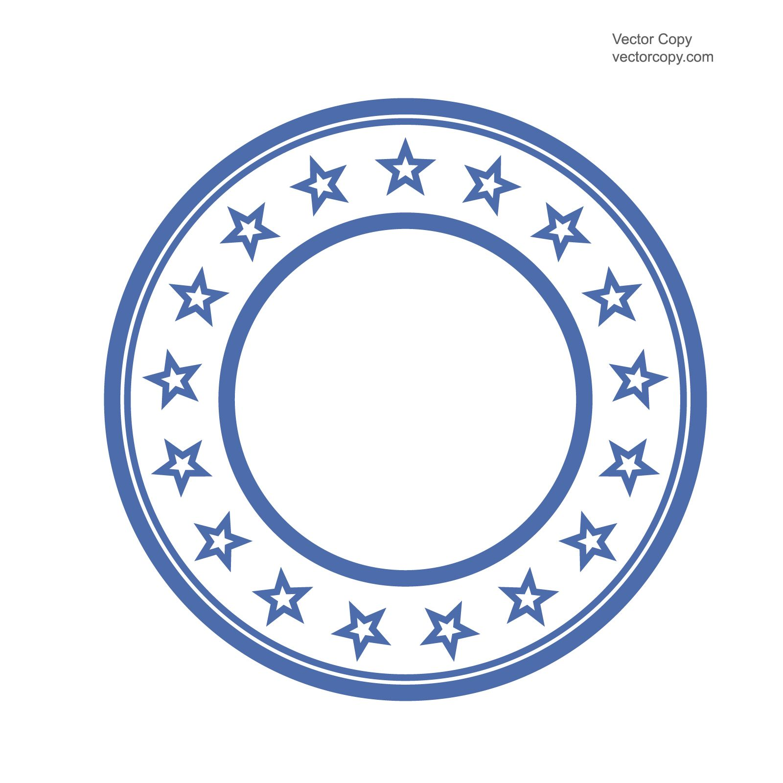 Blank Template Of Round Stamp Free Vector Vectorart