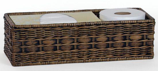 Wicker Toilet Tank Basket Basket Basket Decoration Basket Crafts