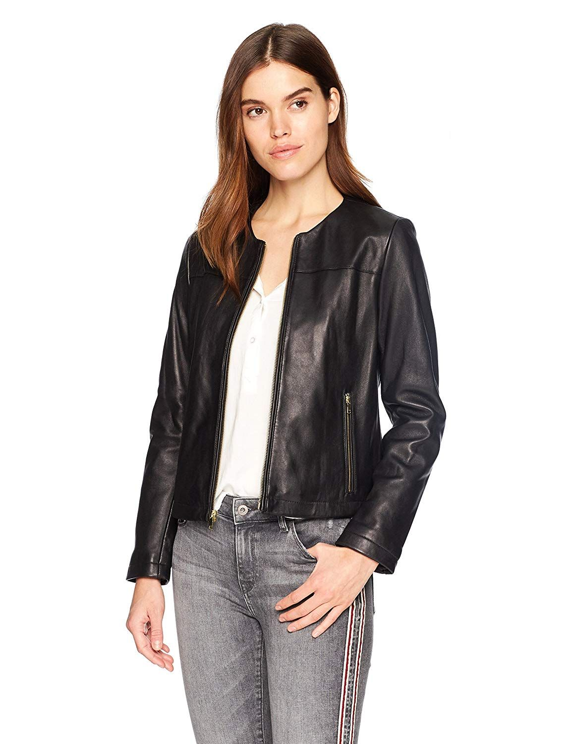 Milwaukee Leather Women/'s Sheepskin Scuba Style Moto Jacket SFL2830