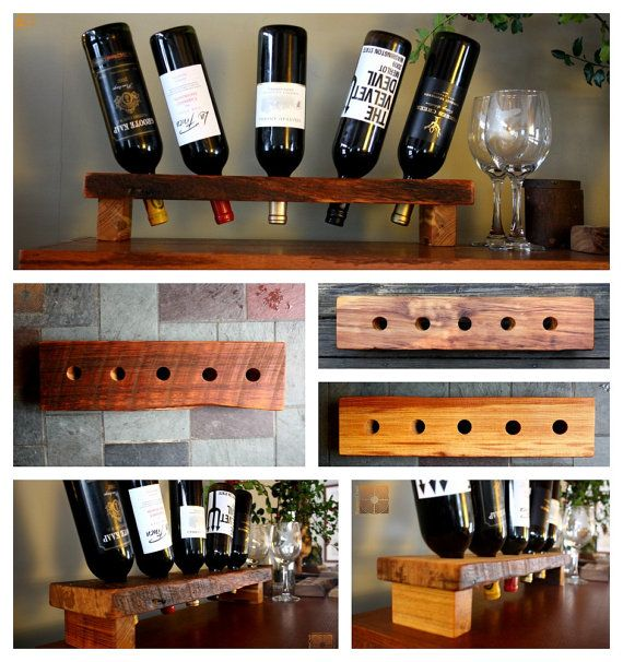 Woodworking Plans For Kitchen Spice Rack: Personalized Wine Rack Rustic Wood Wine By