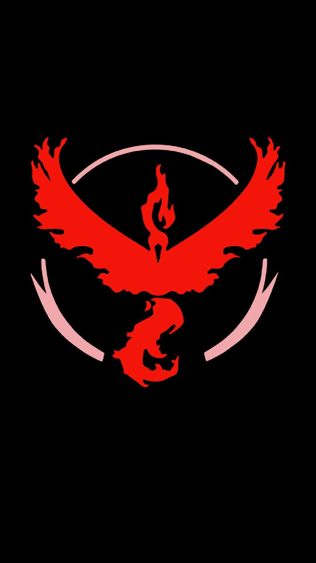 Wallpaper iphone red hd - Pokemon Go Team Valor Black Red Logo Iphone Hd Wallpaper Wallpaper