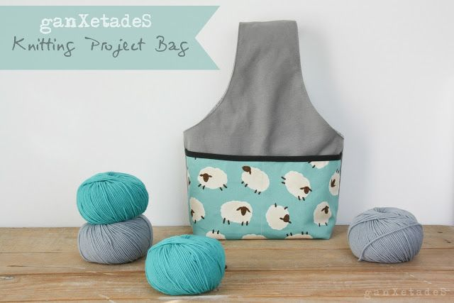 Knitting Project Bag Tutorial Ganxetades Bags Pinterest