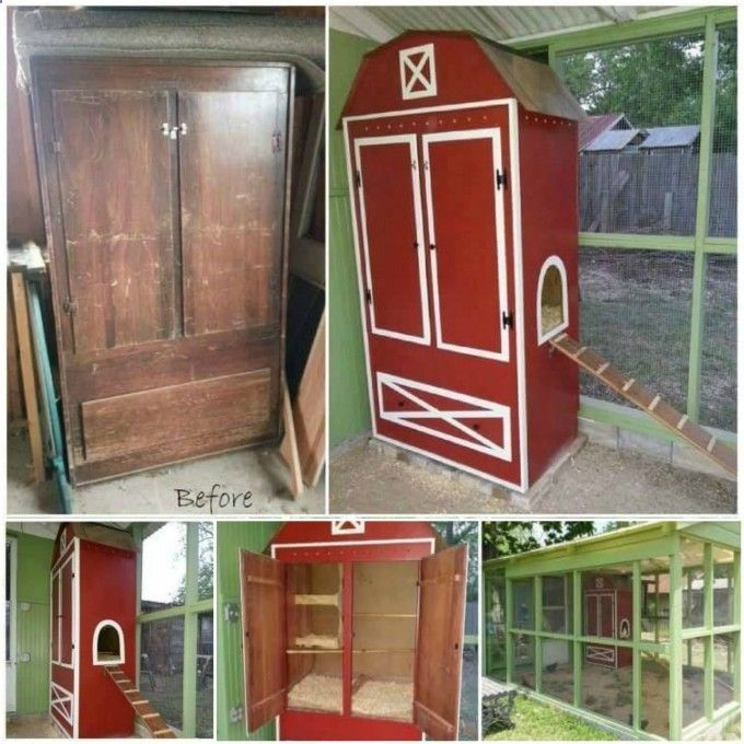 Chicken Coop - Relooker ses vieux meubles! 20 exemples magnifiques - relooker un meuble en pin