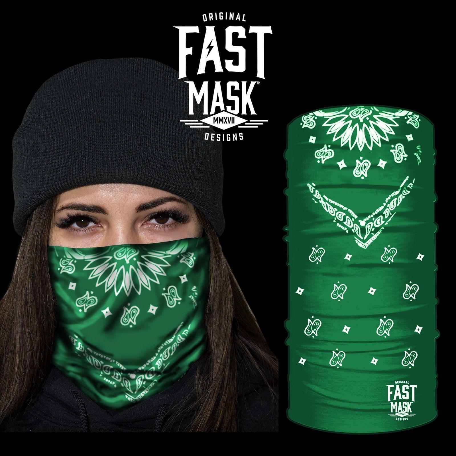 Green bandana fast mask face mask in 2020 face mask