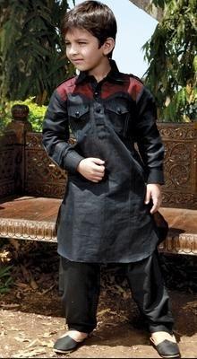 0ef879f3e33864 Poly Remi Linen Kurta Pathani. | Boys | Designer kids clothes, Boys ...