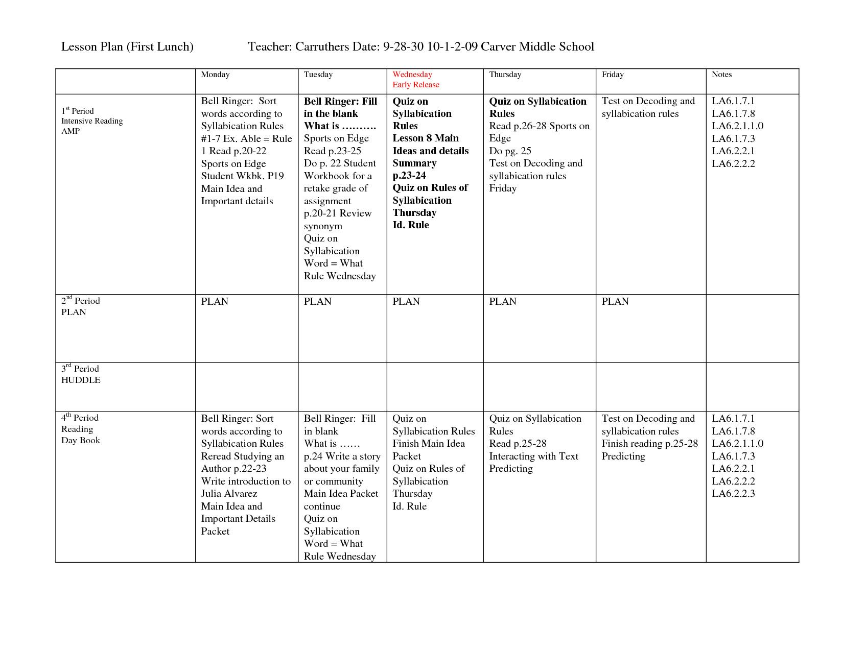 Daily Lesson Plan Template Word New 16 Best Of Microsoft Word Worksheets For Middle Weekly Lesson Plan Template Lesson Plan Templates Lesson Plan Template Free Lesson plan for microsoft word