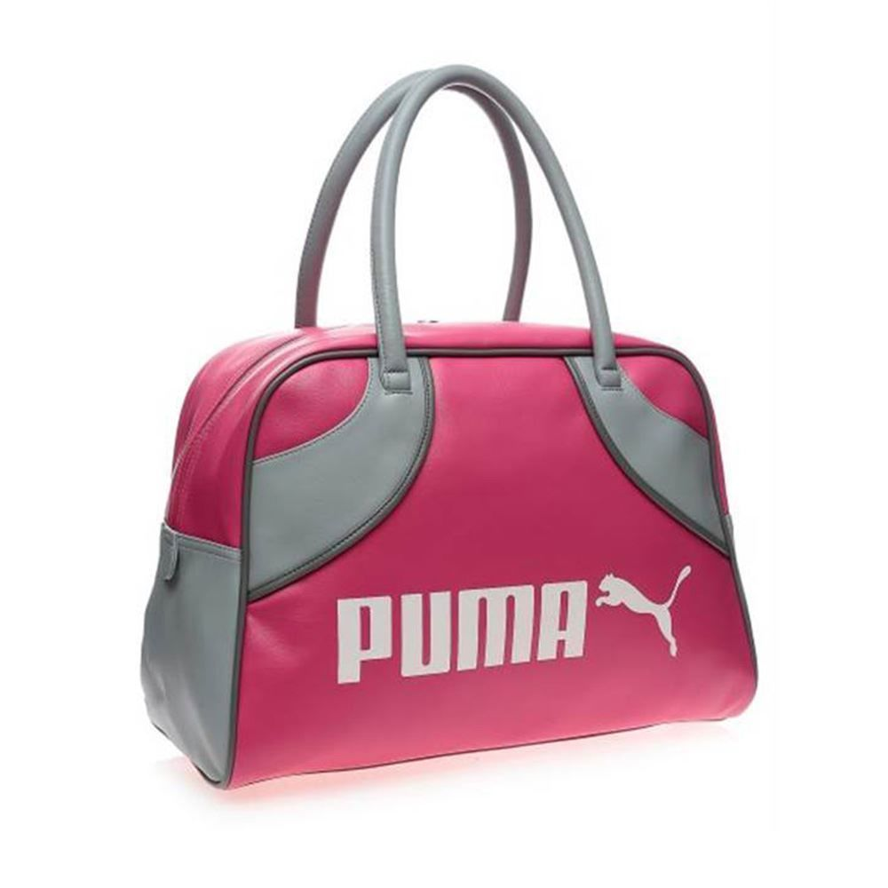 Puma Campus Grip Bag Ladies Womens Handbag Sports Gym Fitness Pink Grey  School 45659dcbf30
