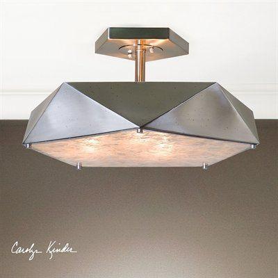 Uttermost 22274 tesoro 3 light antique nickel semi flush · semi flush ceiling lightsflush mount